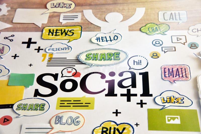 Sociaal media en voorzien van een netwerk royalty-vrije stock foto's