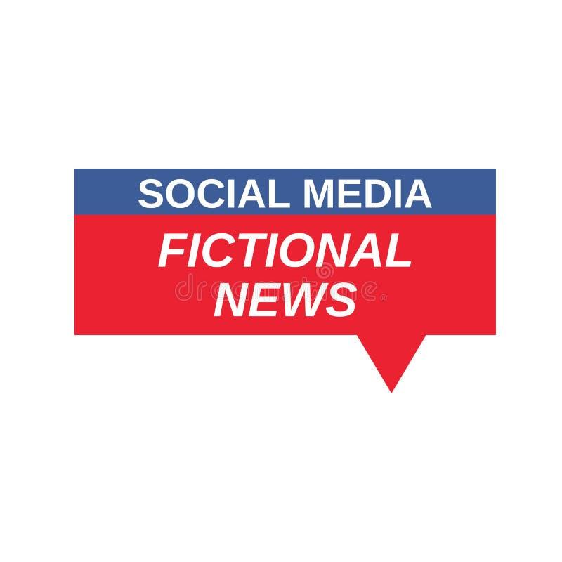 Sociaal Media Fictief Nieuwsteken royalty-vrije illustratie