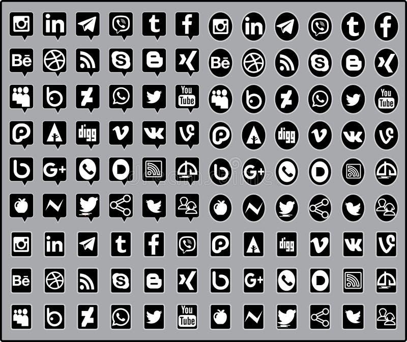 Sociaal media pictogram royalty-vrije illustratie