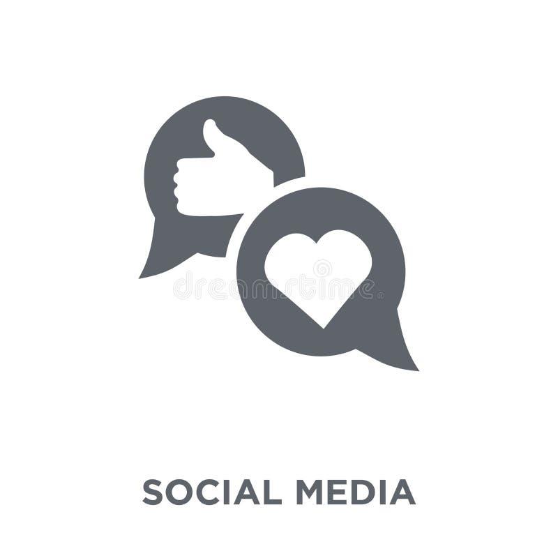 Sociaal media pictogram van inzameling royalty-vrije illustratie