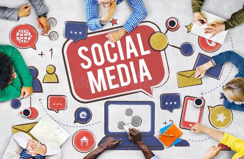 Sociaal Media Verbindings Globaal Communicatie Concept stock afbeeldingen
