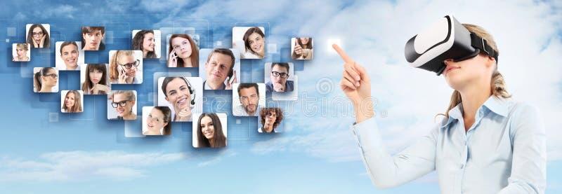 Sociaal net en mondiaal contactconcept royalty-vrije stock fotografie