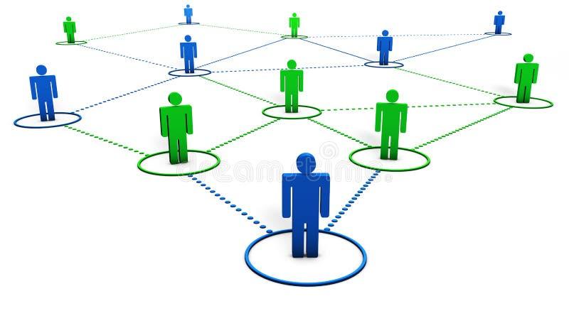 Sociaal Netwerk vector illustratie