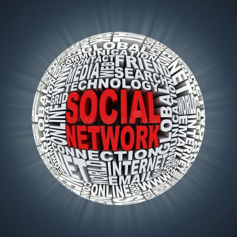Sociaal netwerk abstract gebied stock illustratie
