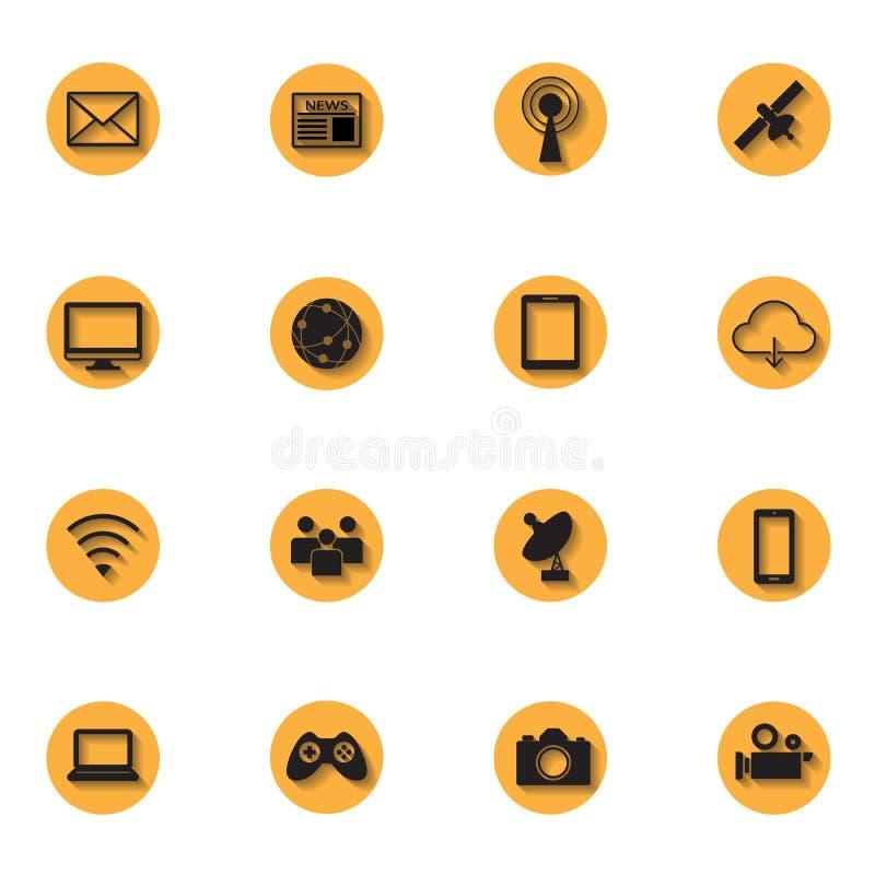 Sociaal netwerk, communicatie pictogram vector illustratie
