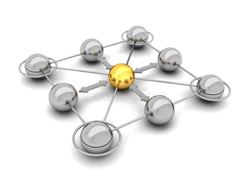 Sociaal netwerk - conceptenillustratie stock illustratie