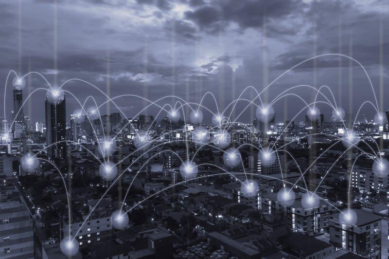 Sociaal Netwerk en Mobiel royalty-vrije stock afbeeldingen