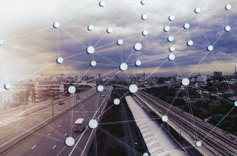 Sociaal Netwerk en punt stock afbeeldingen