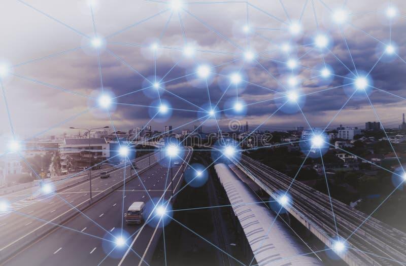 Sociaal Netwerk en punt royalty-vrije stock foto
