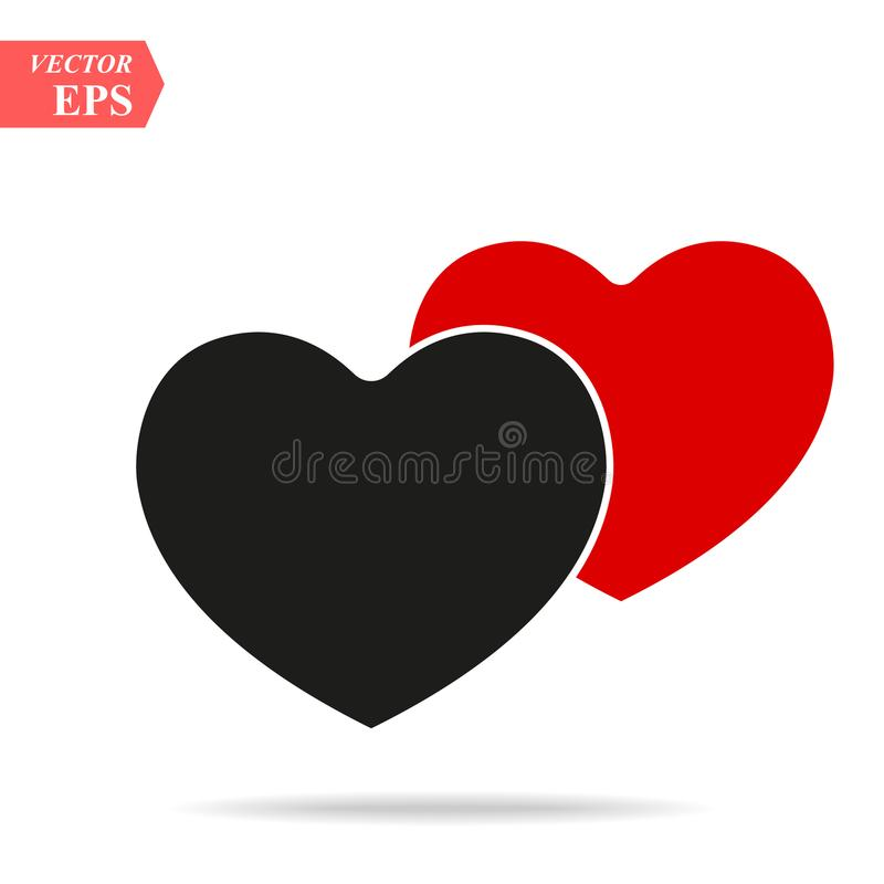 Sociaal netwerk geïnspireerd hart Het vectorpictogram eps 10 van de hartvorm Valentine-symbool vector illustratie
