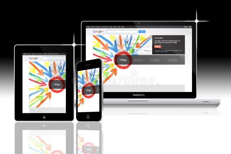 Sociaal netwerk Google plus vector illustratie