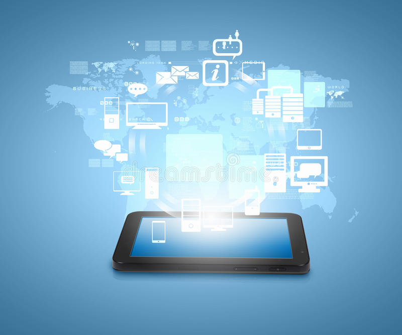 Sociale netwerkmededeling stock afbeeldingen