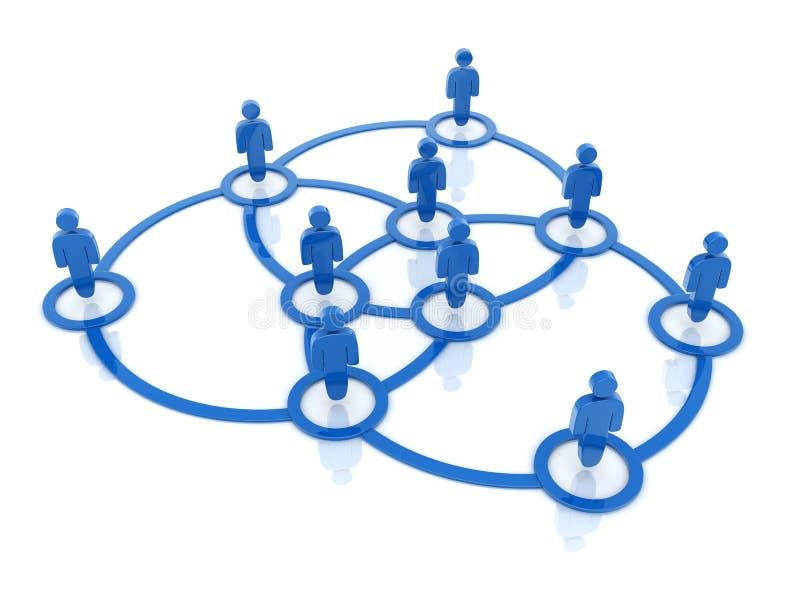 Sociaal netwerk rond vector illustratie