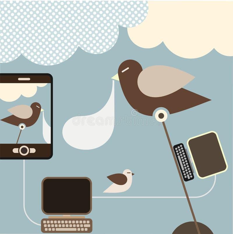 Sociaal Netwerk - vectorillustratie royalty-vrije illustratie