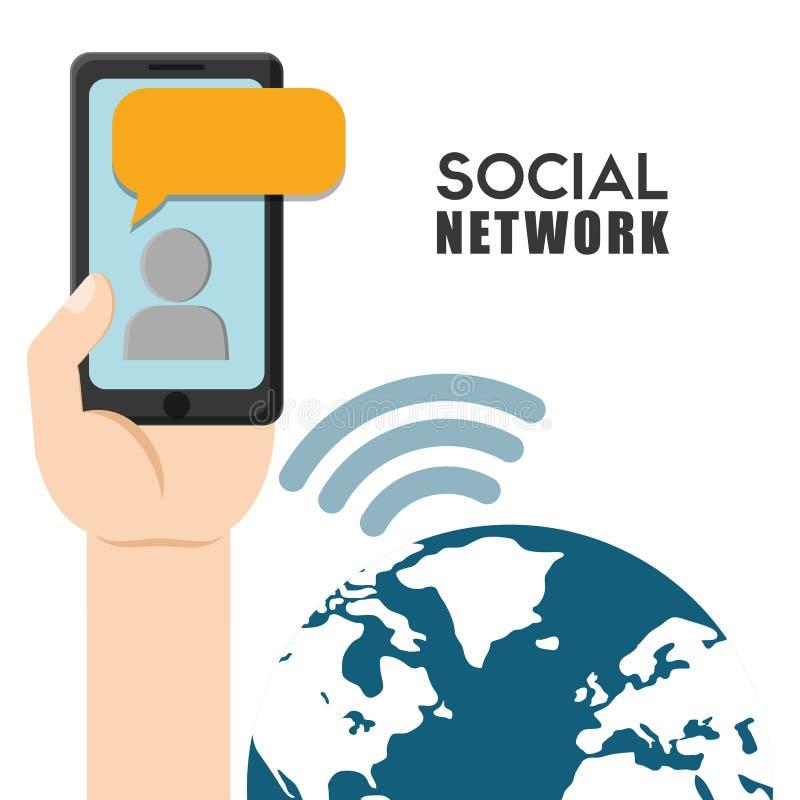 Sociaal netwerk vectorontwerp vector illustratie