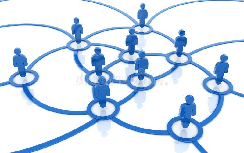 Sociaal netwerkblauw