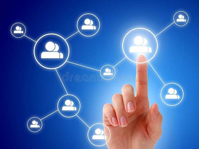 Sociaal netwerkconcept.