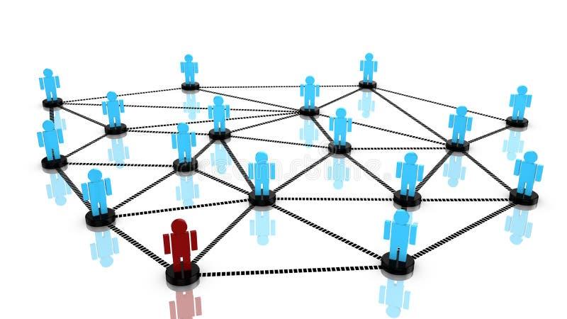 Sociaal netwerkconcept met verbonden personen royalty-vrije illustratie