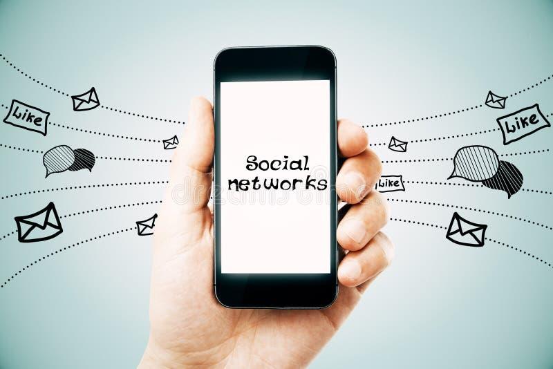 Sociaal netwerken en media concept royalty-vrije illustratie