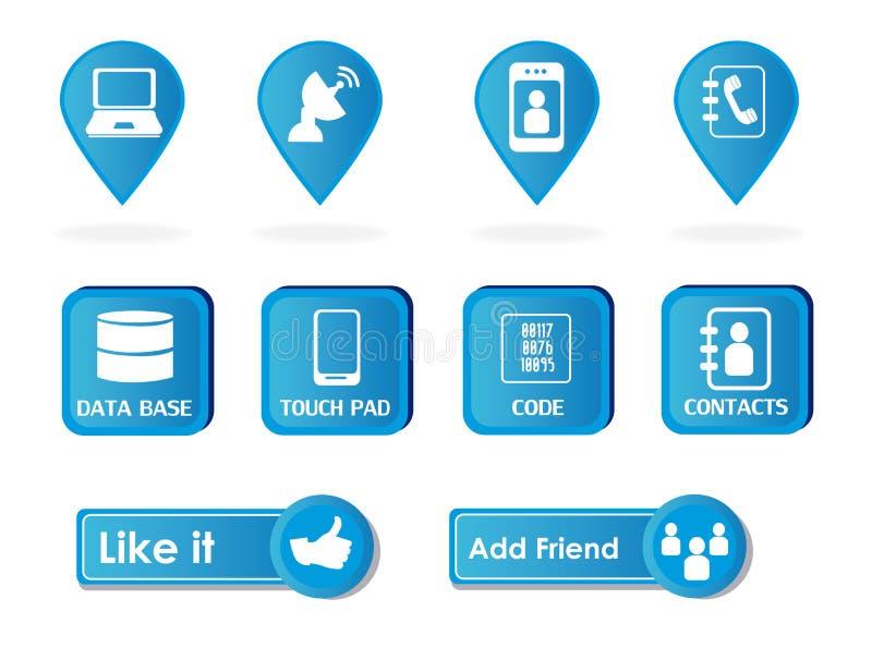 Sociaal ontwerp vector illustratie