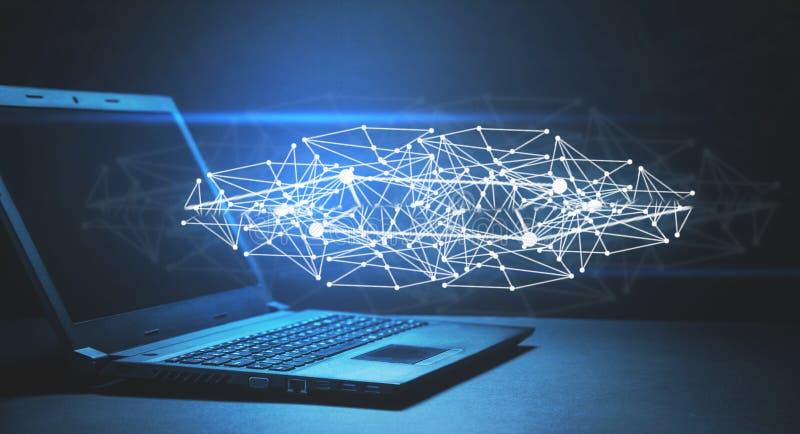 Sociaal verbinding en netwerk Internet en technologieconcept stock foto