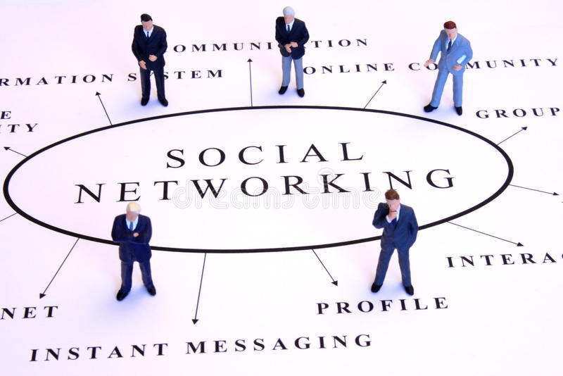 Sociaal voorzien van een netwerk royalty-vrije stock foto's