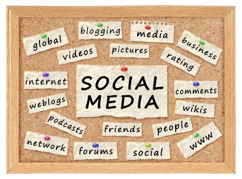 Sociaal voorzien van een netwerkconcept royalty-vrije illustratie