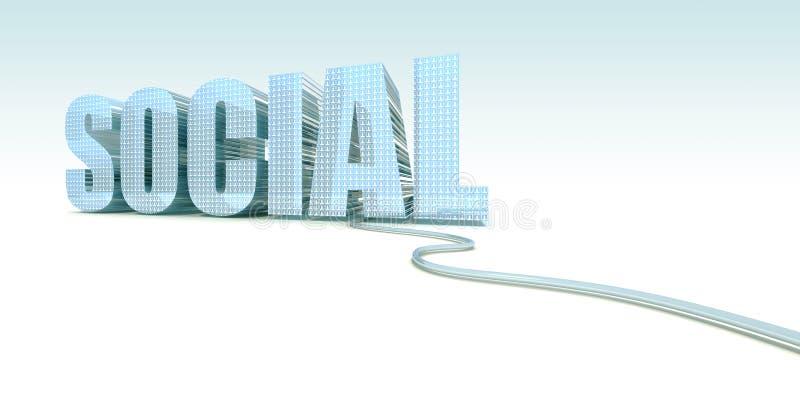 Sociaal Web royalty-vrije illustratie
