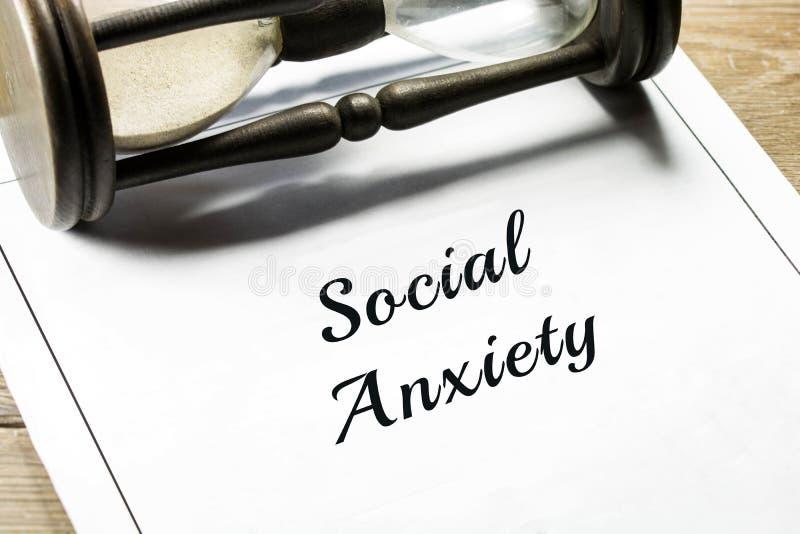 Social ångest arkivbild