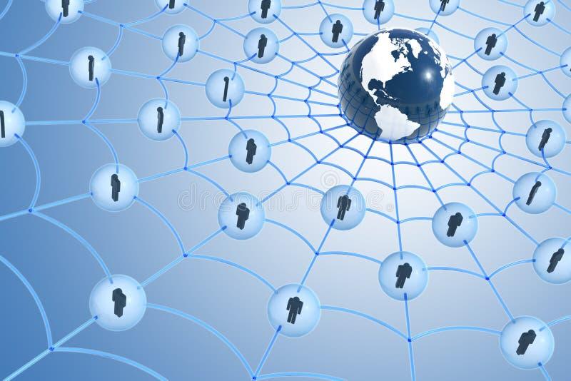 social глобальной вычислительной сети принципиальной схемы иллюстрация штока
