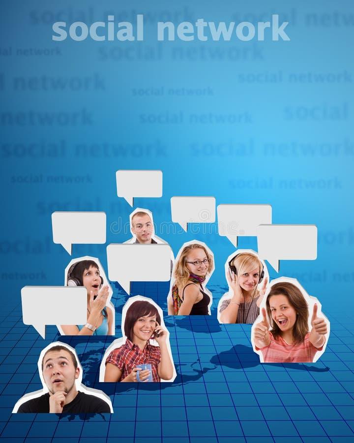 social сети 2 принципиальных схем стоковое фото