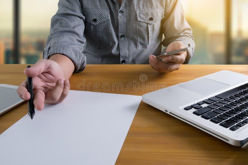 social, affaires, fond, concept, bureau, homme, comprimé, technologie, photo stock