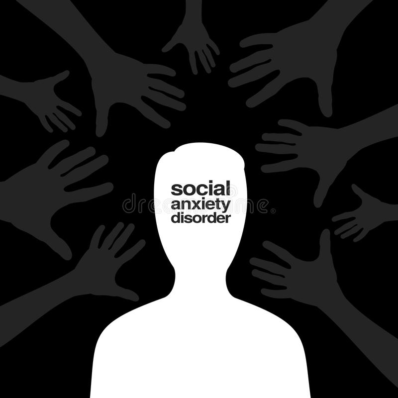 Social anxiety disorder vector illustration