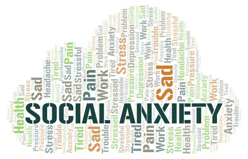 Social Anxiety word cloud vector illustration