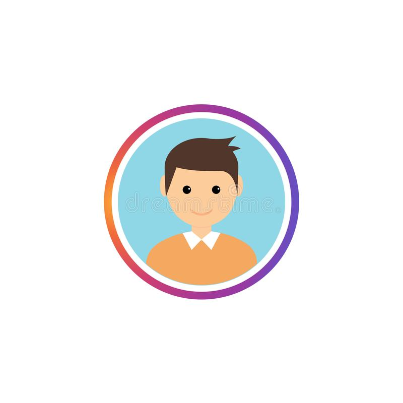 Social avatar stories gradient frame. Instastory user image profile stock illustration