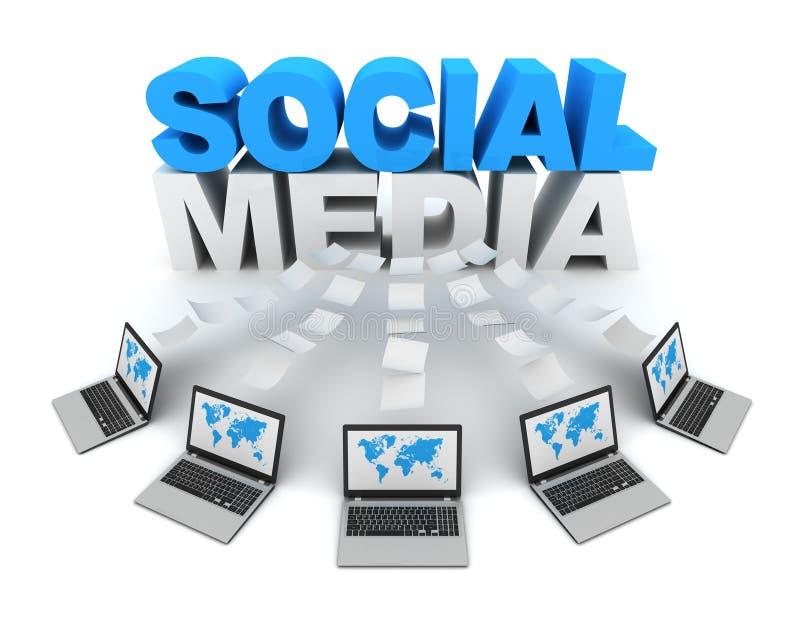 social begreppsillustration för massmedia 3d vektor illustrationer