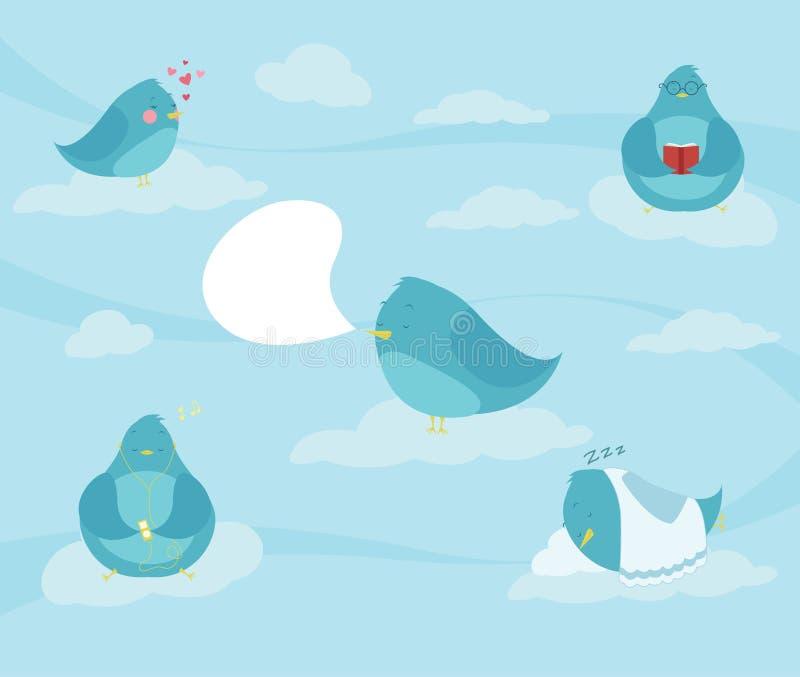Download Social Birds stock vector. Illustration of tweet, dreaming - 28047429