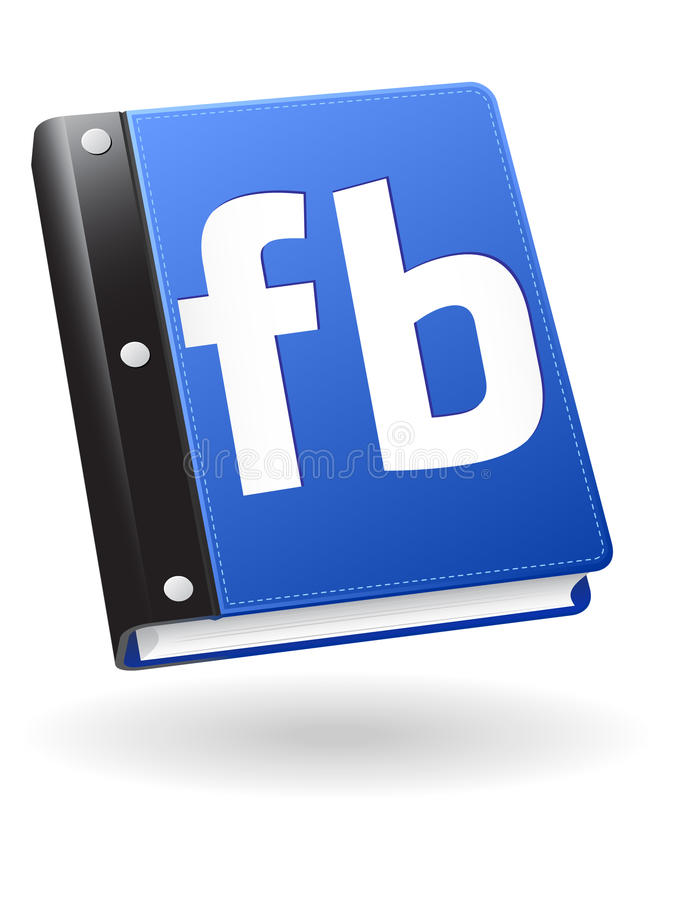Social Book Icon. A shiny blue book icon available in vector EPS format