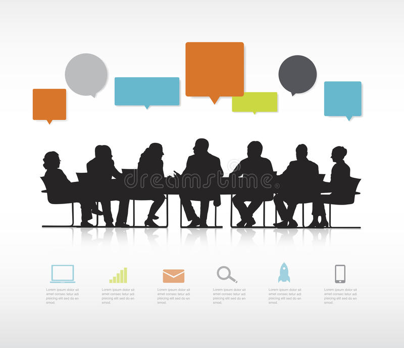 Social Business Gathering Meeting Concept stock illustration