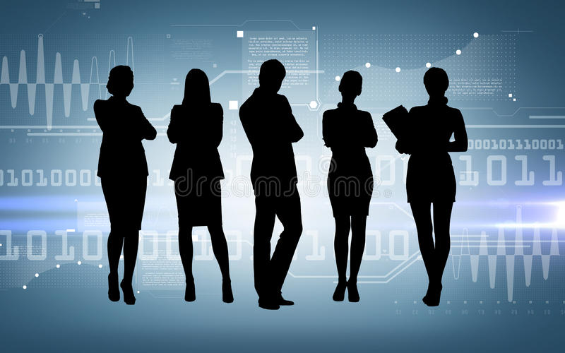 Social or business network. Business and networking concept - social or business network royalty free illustration