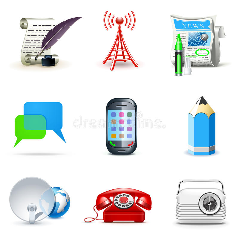 Download Social And Communication Icons   Bella Series Stock Vector - Image: 19583135