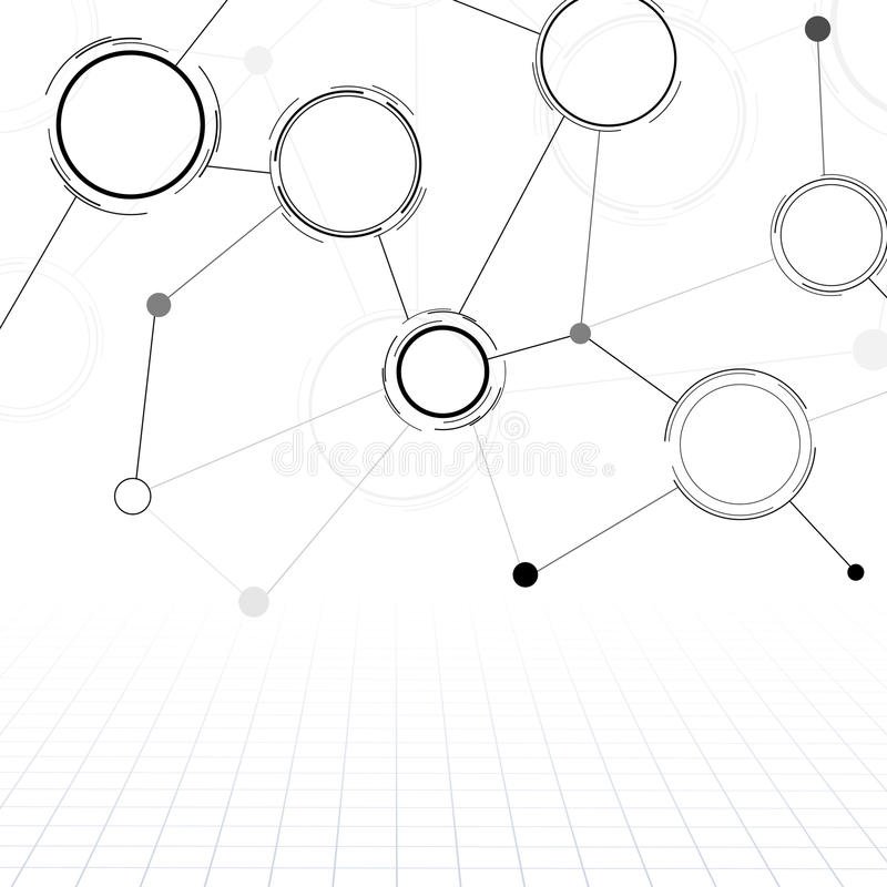 the round shape structure with connections stock vector