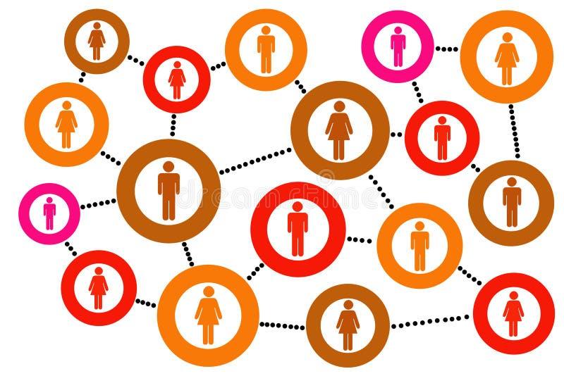 Social community royalty free illustration