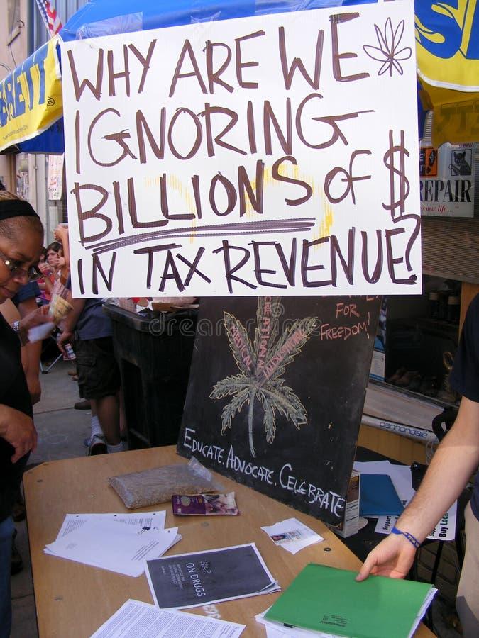 Social-déclaration sur la marijuana légalisée photographie stock