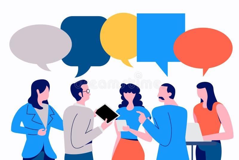 Social de Discuss do homem de negócios ilustração do vetor
