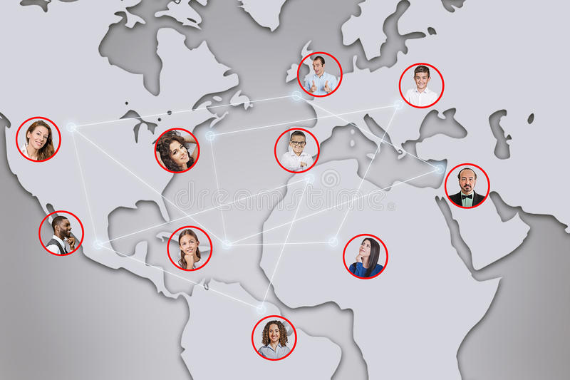 Social del concepto del negocio y del establecimiento de una red o red del negocio libre illustration