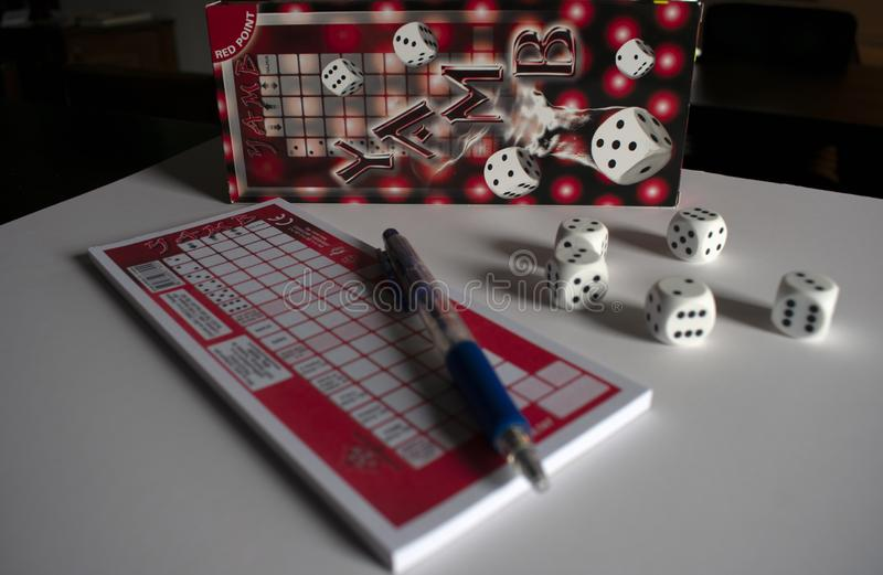 Social dice game stock photography