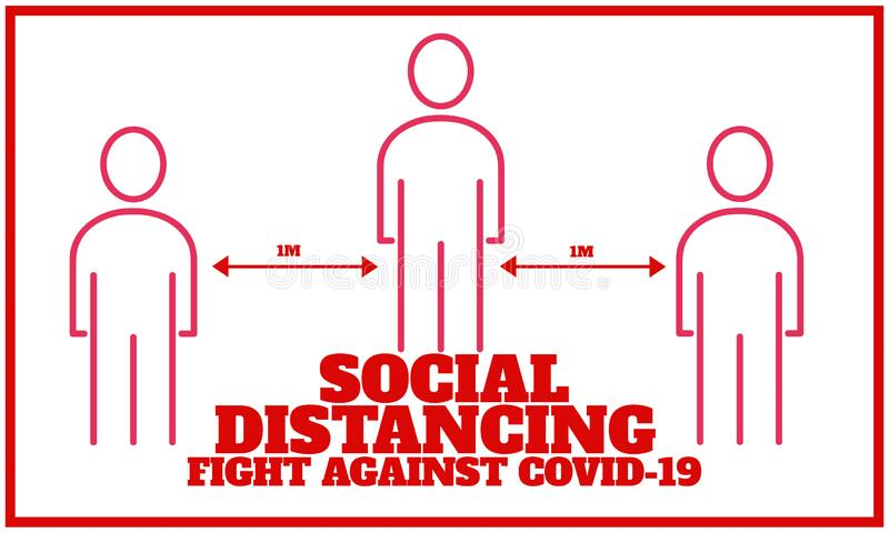 Social distancing fight against covid-19 royalty free stock photography