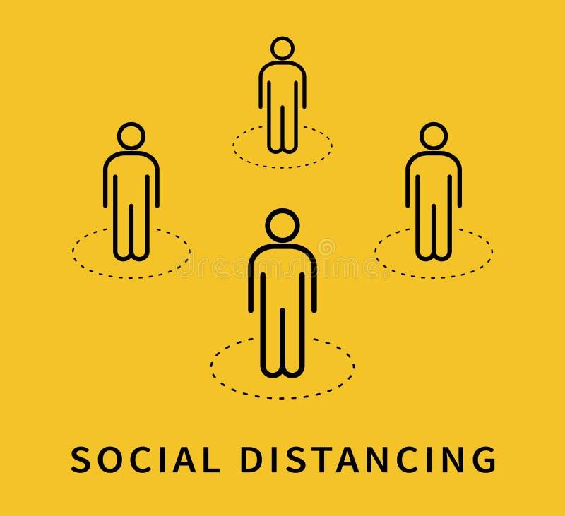Free Social Distancing. Keep The 1-2 Meter Distance. Coronovirus Epidemic Protective. Vector Royalty Free Stock Photos - 179930518