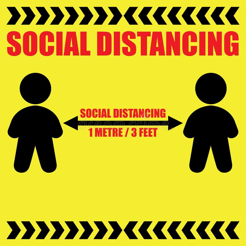 Free Social Distancing Keep Your Distance 1 Metre Royalty Free Stock Photography - 177920177